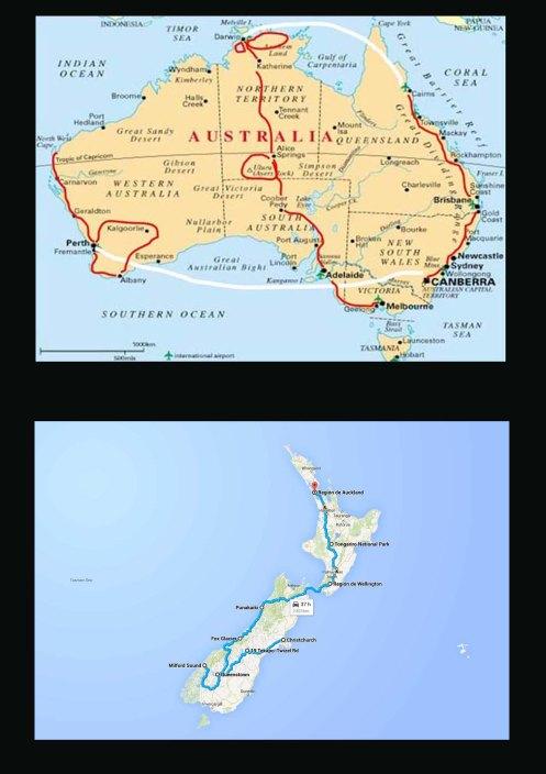 mapas australi new zeladia